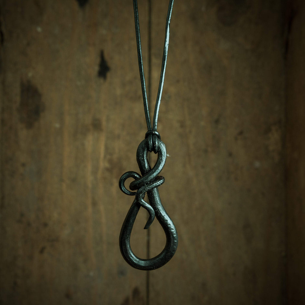 Forged teardrop, Gothic pendant