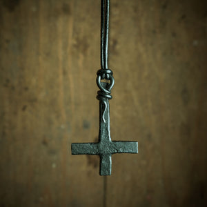 inverted cross pendant