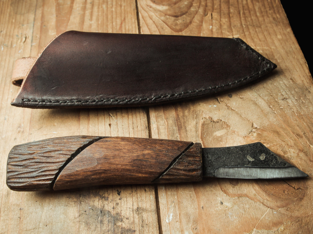 Hand forged seax knife