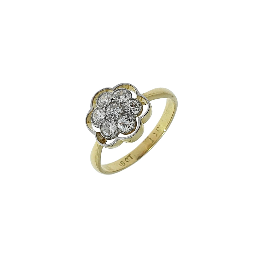 0.77ct Diamond Daisy Cluster Ring