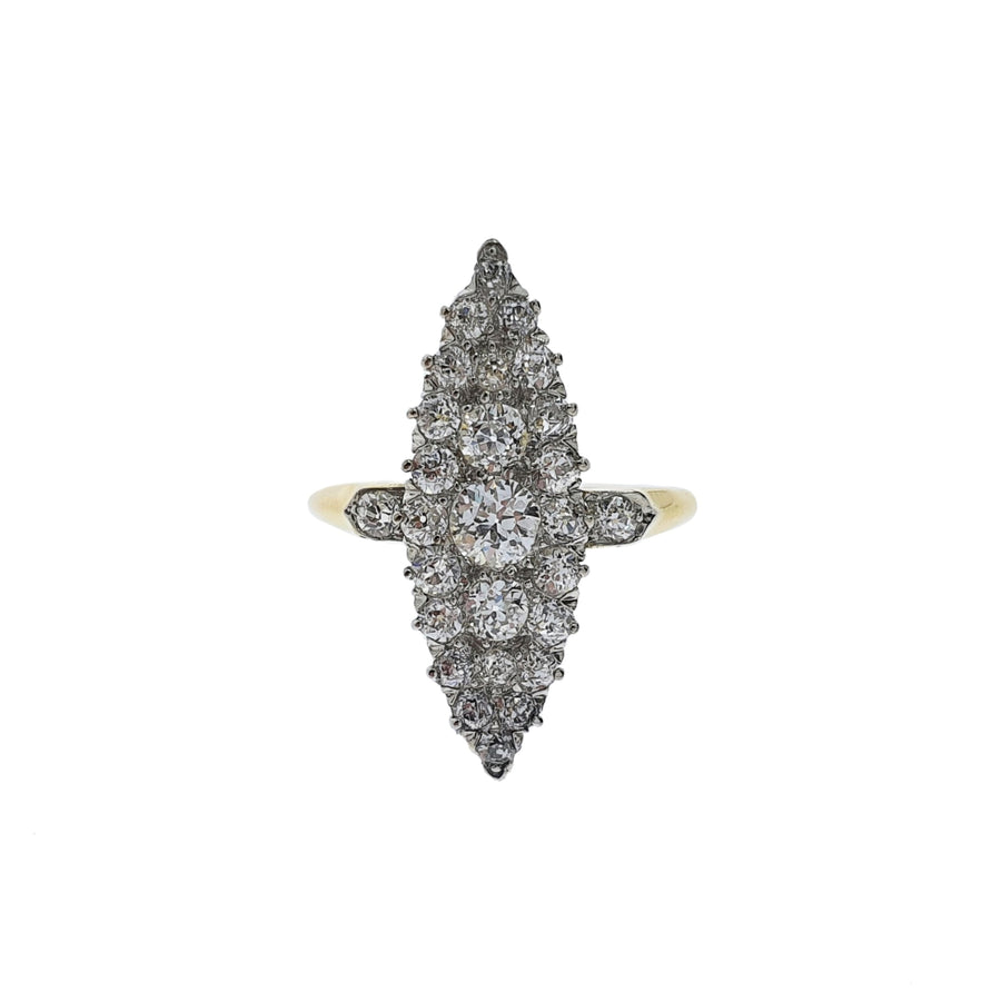 Antique Marquise Diamond Cluster Ring