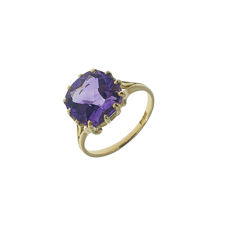 Antique Old Cut Amethyst Ring