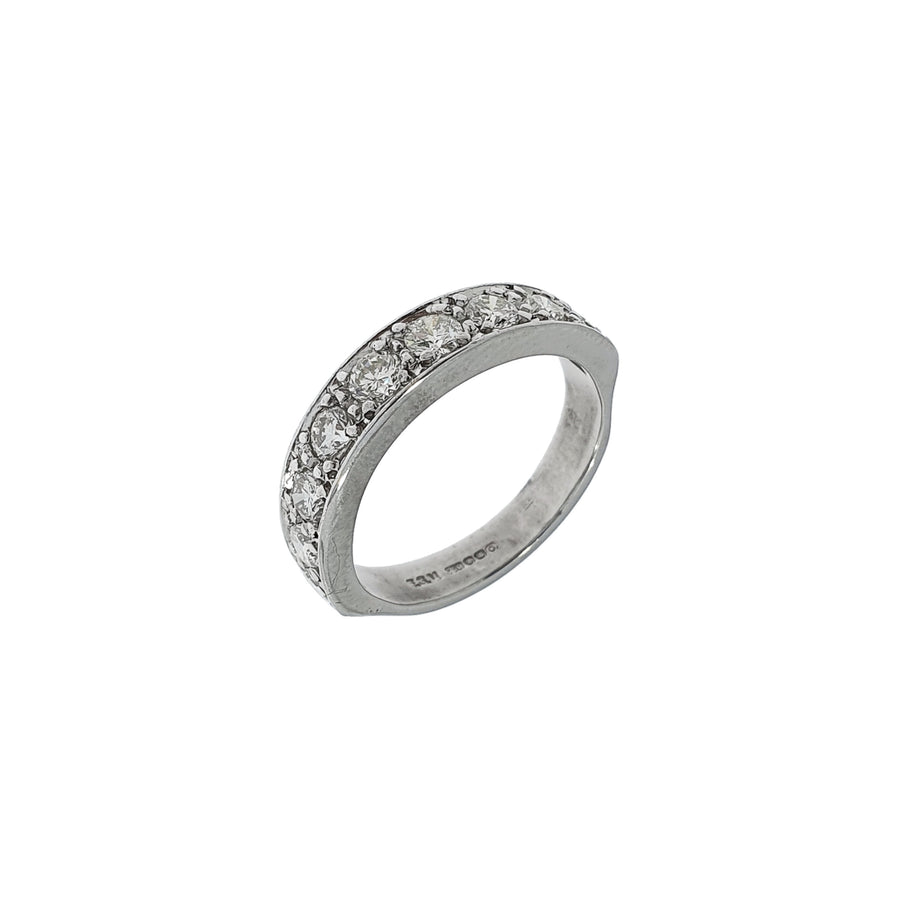 0.90ct Diamond Half Eternity Ring