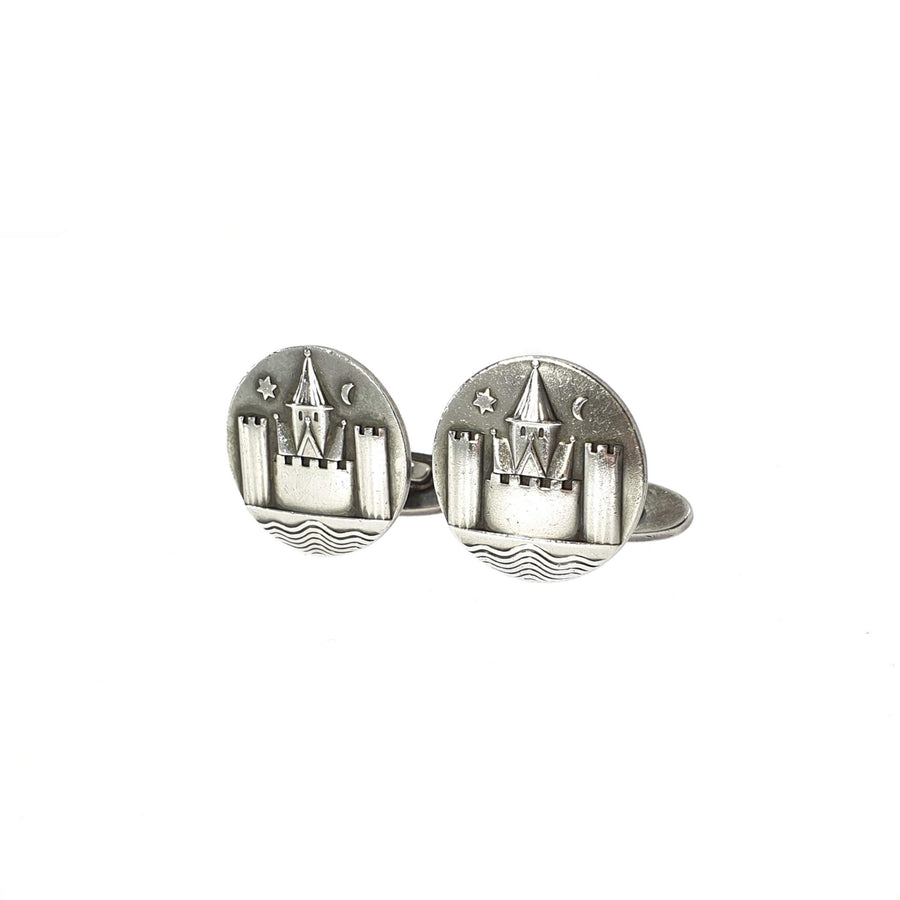 Georg Jensen Castle Scene Cufflinks