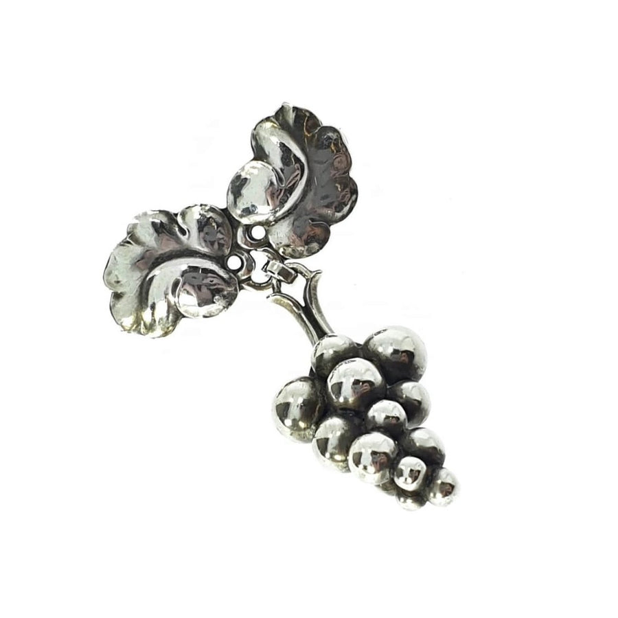 Georg Jensen Moonlight Grapes Brooch #217A