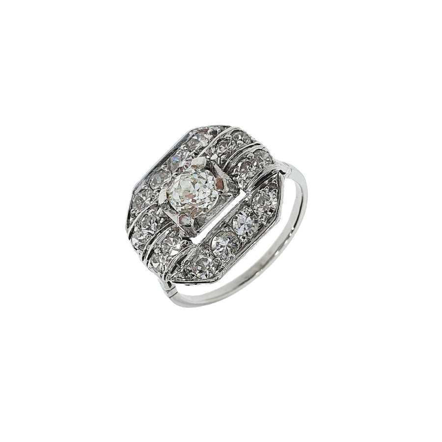 Diamond Cluster Panel Ring