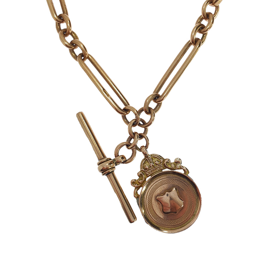 9ct Albert Chain & Chester Fob