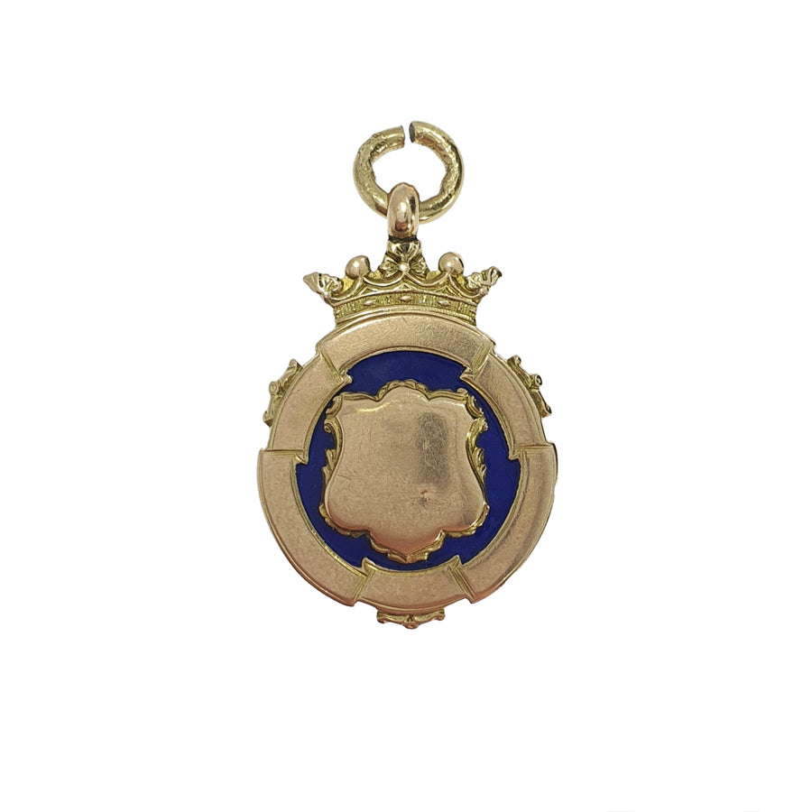 Antique Enamelled 9ct Fob Charm