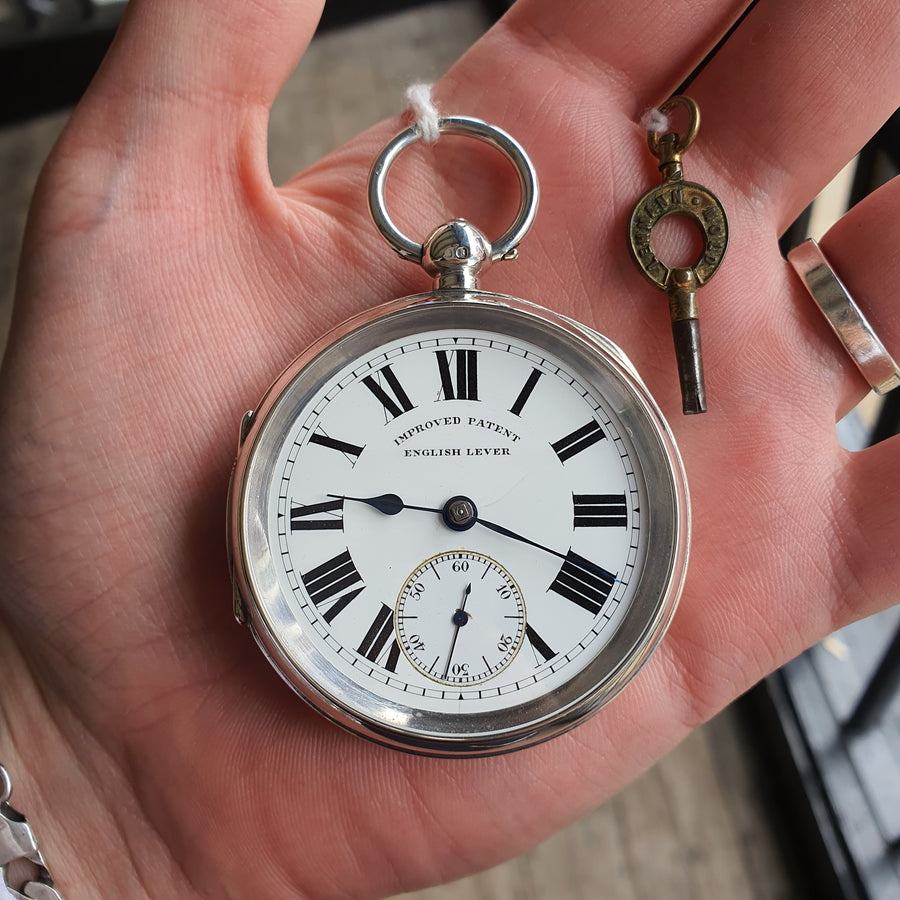 Antique Chester Silver Pocket Watch