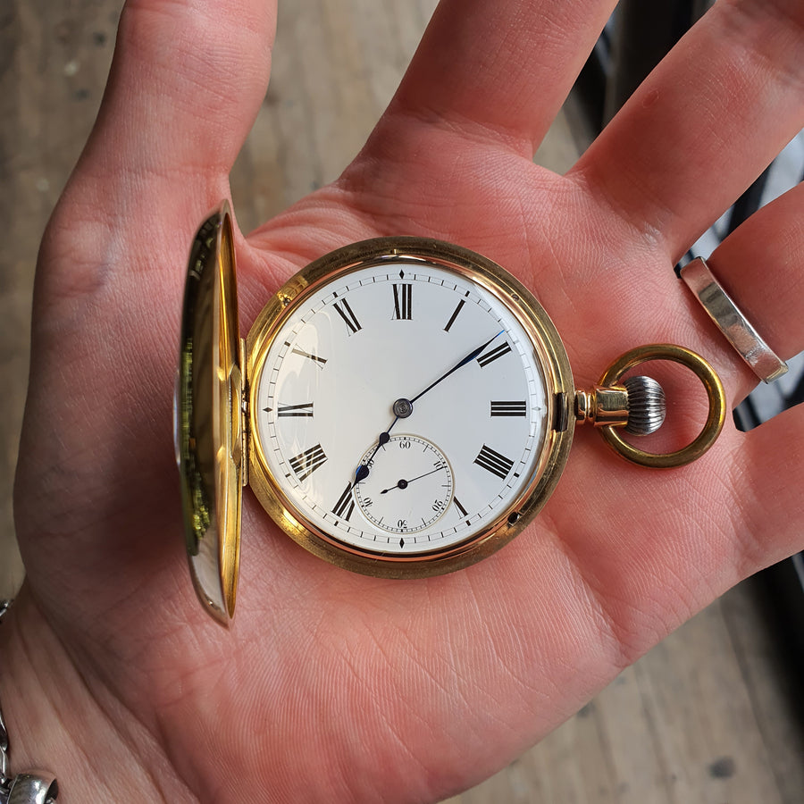 18ct Gold Swiss Pocket Watch