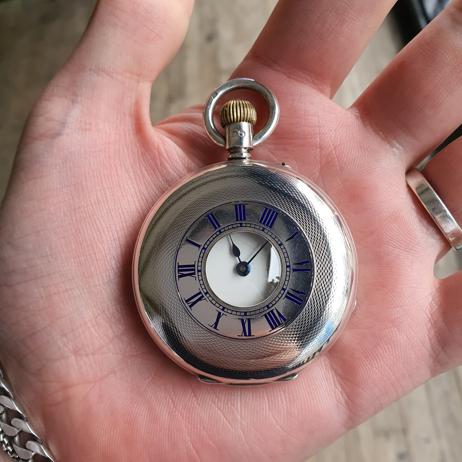 Chester Hallmark Silver Pocket Watch