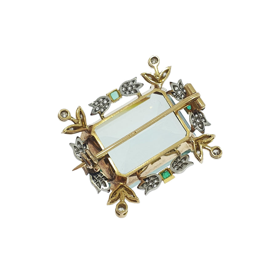 31ct Edwardian Aquamarine Brooch