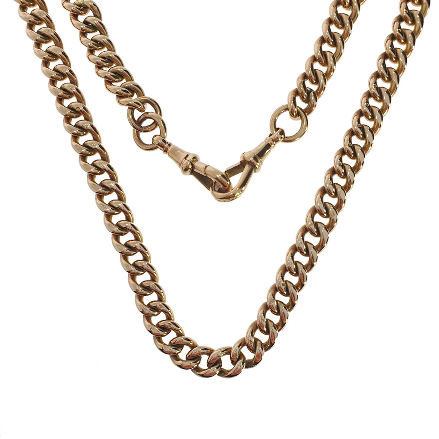 9ct Rose Gold Graduated Albert Chain