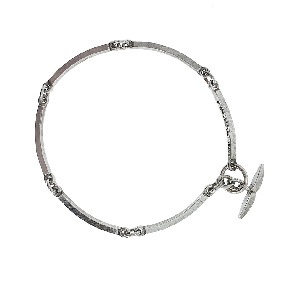Silver Curved Bracelet by N E From