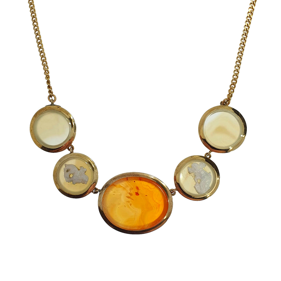Antique Hardstone Cameo Necklace