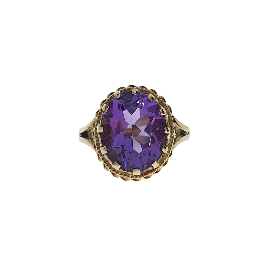 Vintage 9ct Gold Amethyst Ring
