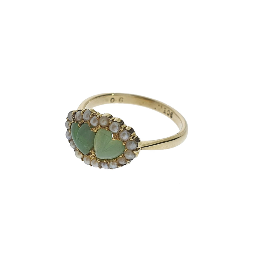 Antique Jade Sweetheart Ring