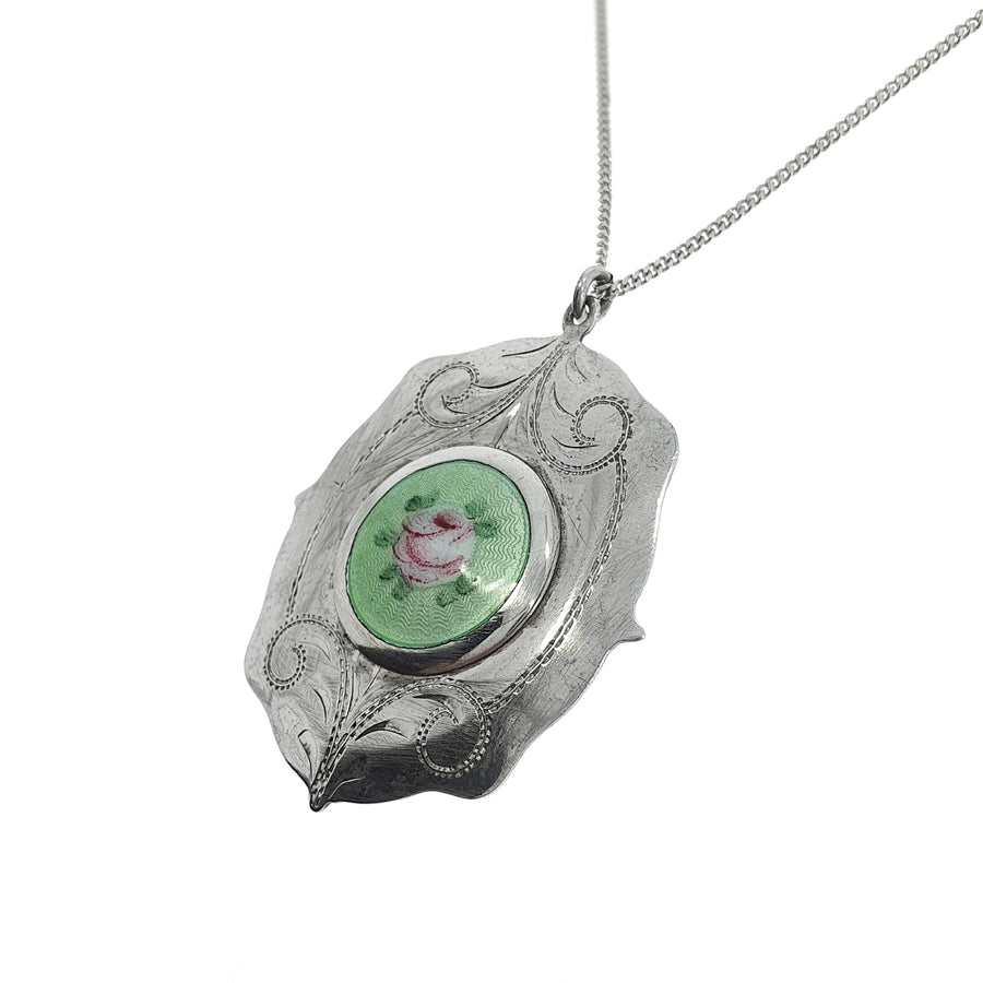 Silver & Enamel Secret Locket