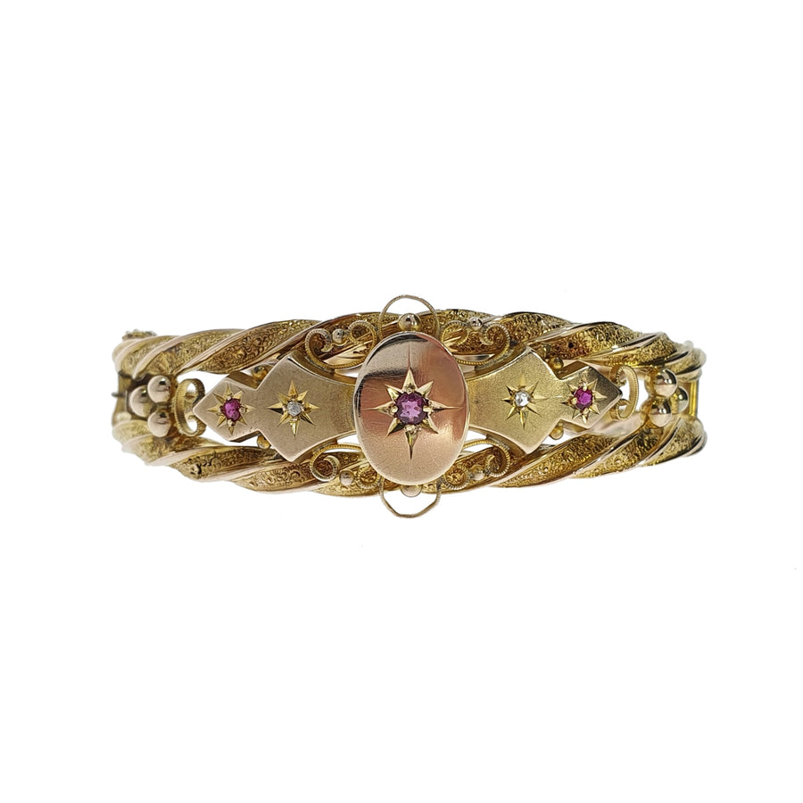 Chester Hallmark Ruby & Diamond Bracelet