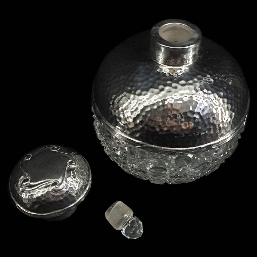 Antique Silver & Crystal Perfume Bottle