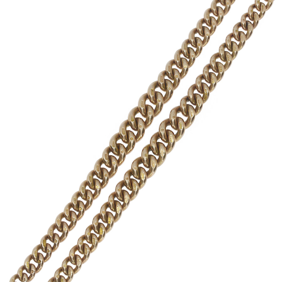 Rose Gold Graduated Double Albert Chain