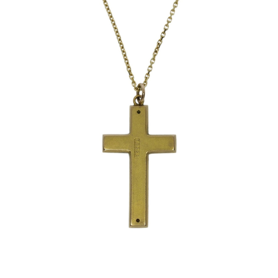 Antique Gold Cross Necklace
