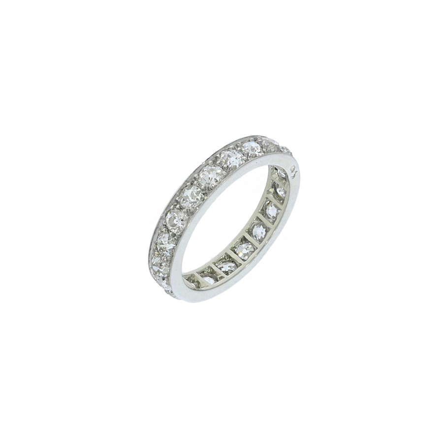 French Antique Old Cut Diamond Full Eternity Ring