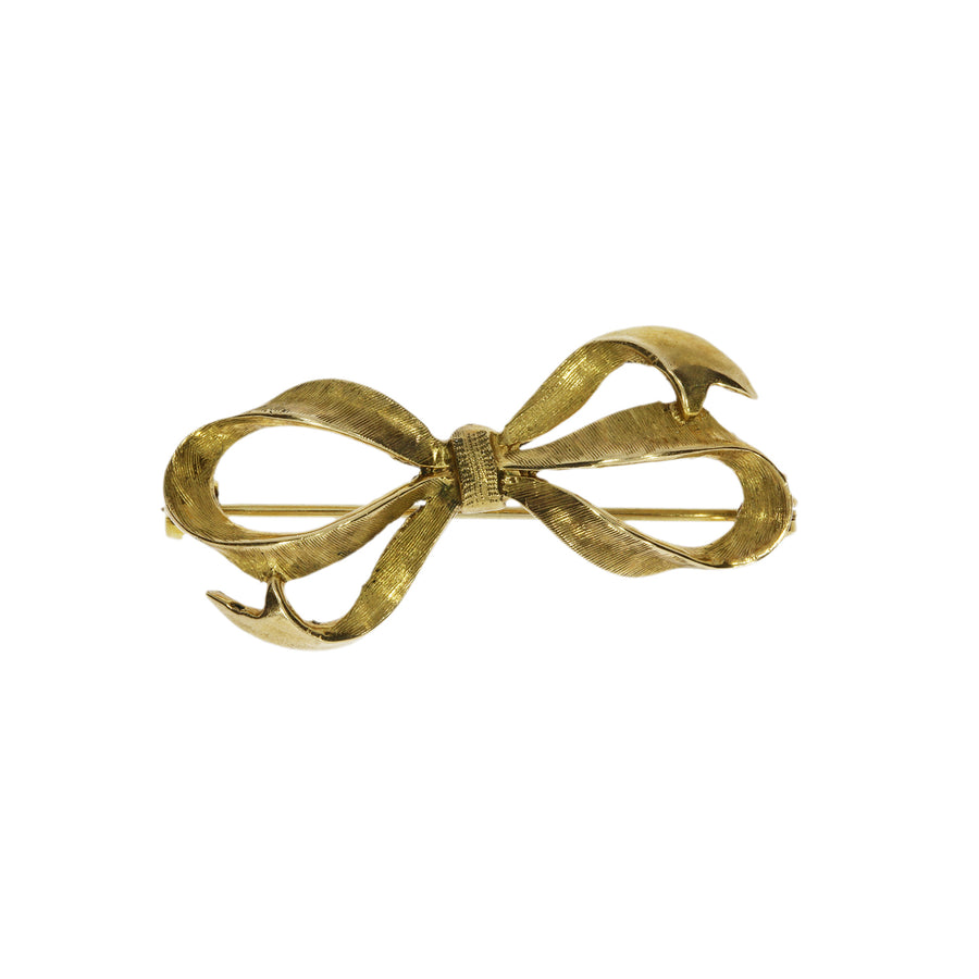 Vintage Gold Bow Brooch