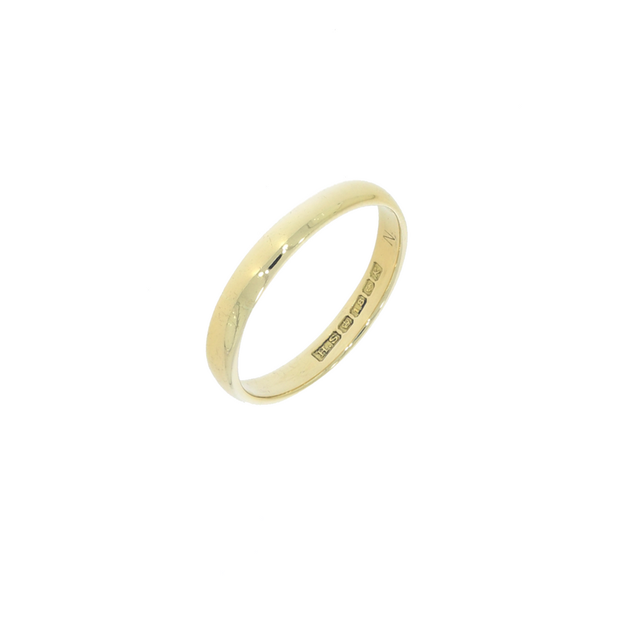 Vintage 18ct Gold D-Shaped Band