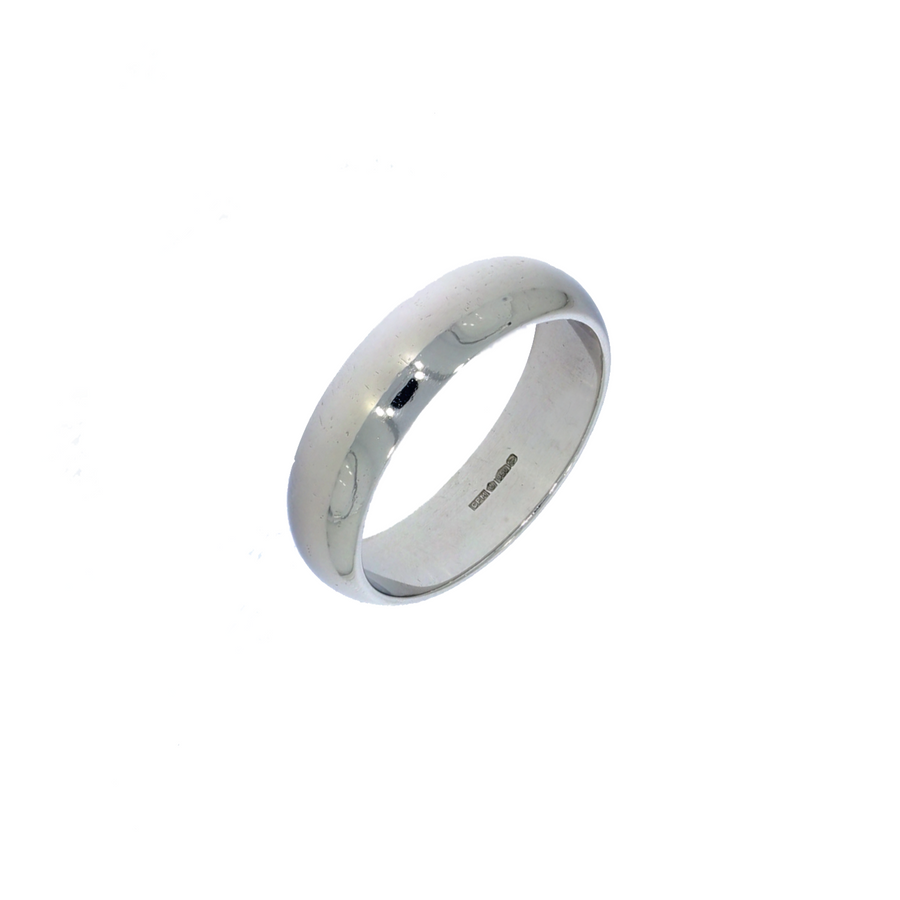 Platinum Heavy D-Shaped Band