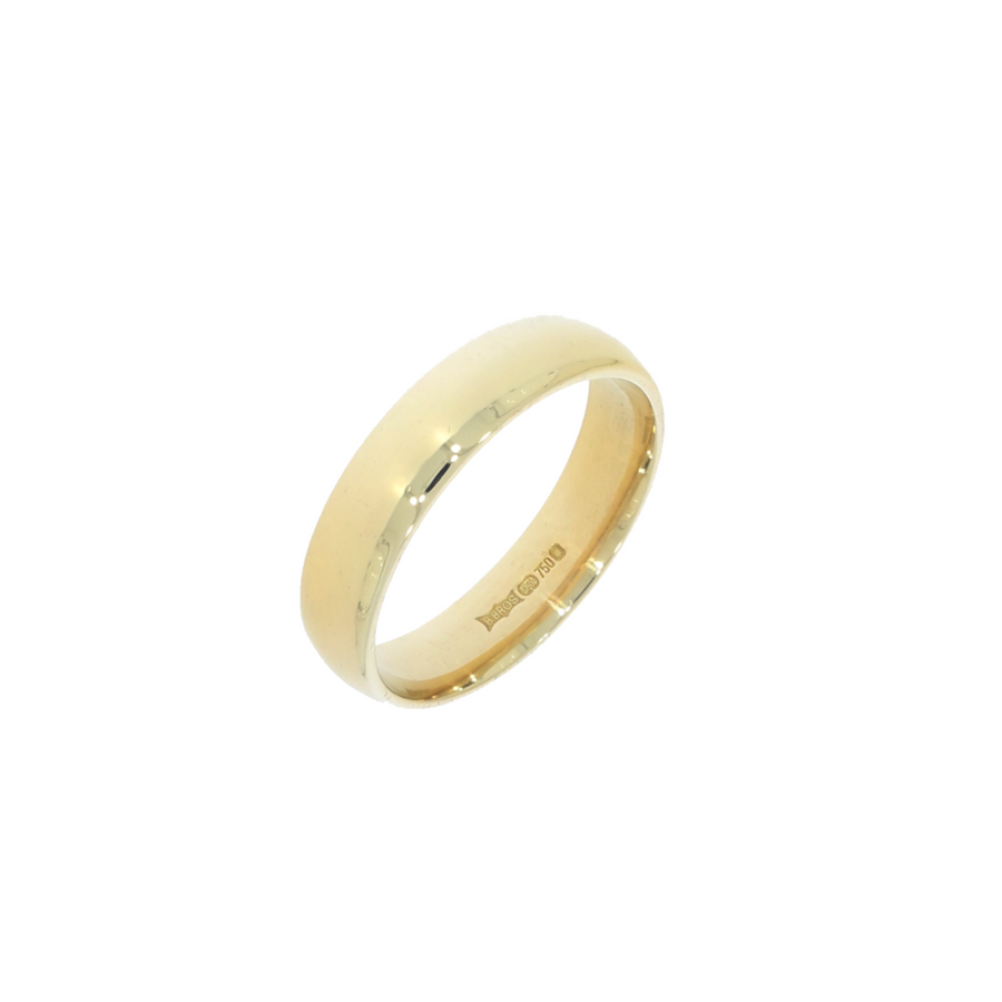 18ct Gold Medium Court Band