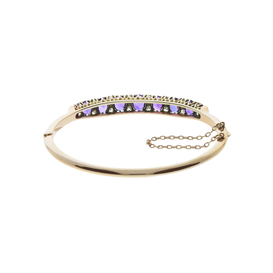 Antique Amethyst Bangle