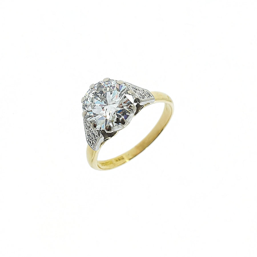 Vintage 2.08ct Diamond Solitaire Ring