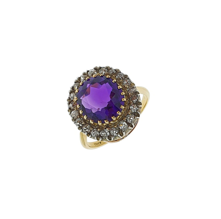 Antique Amethyst & Diamond Ring