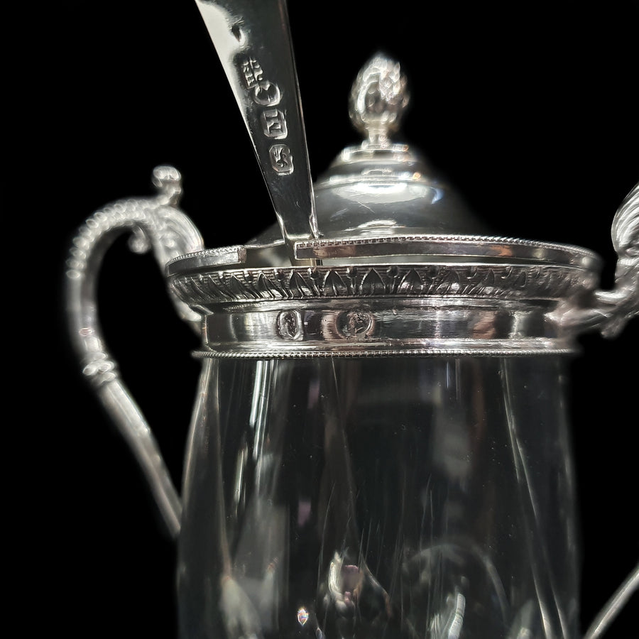 French Silver & Glass Preserve Pot