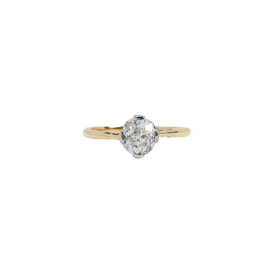 0.75ct Old Mine Cut Diamond Ring
