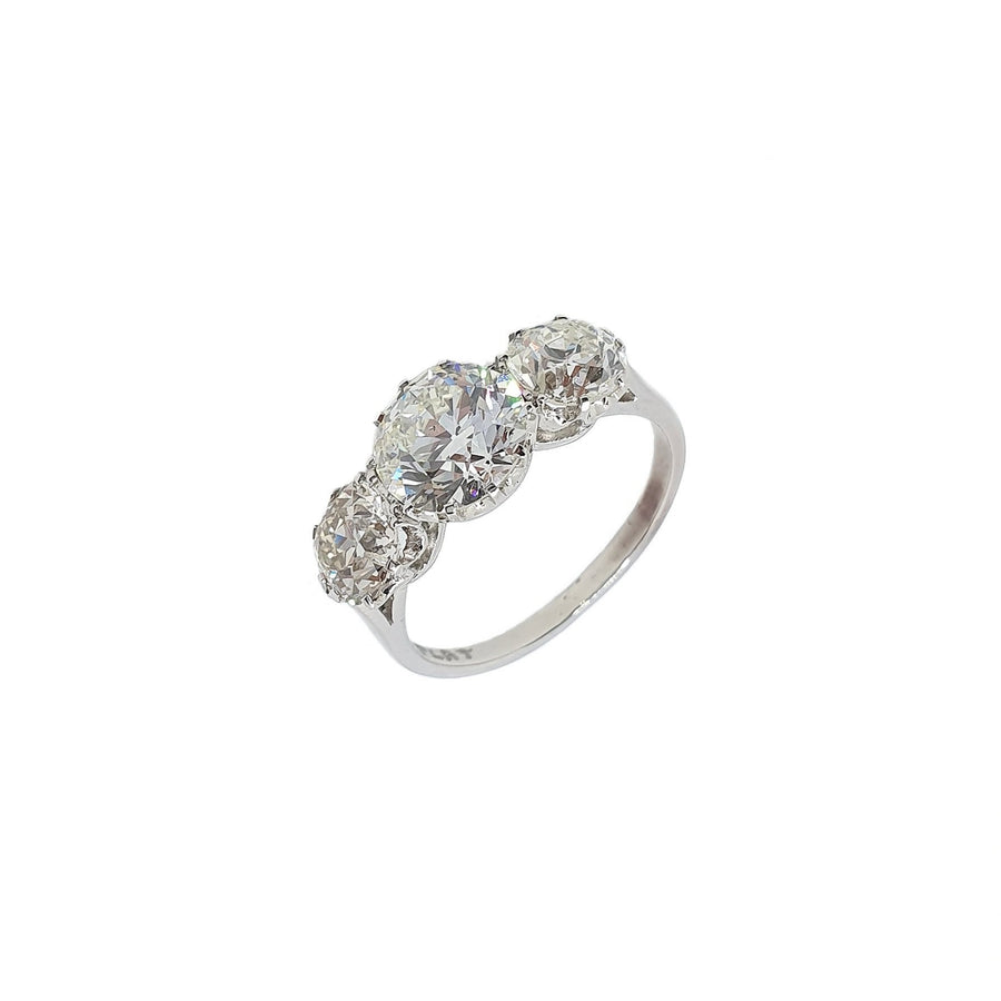3.12ct Old European Cut Diamond Ring
