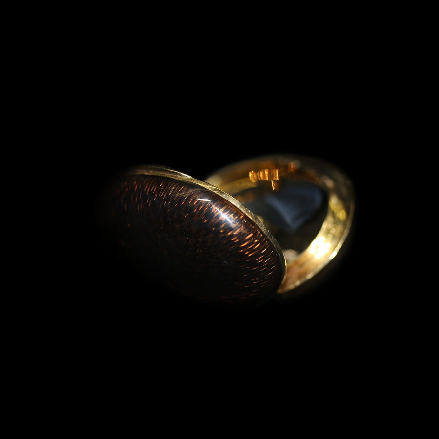 French Enamelled Gold Pill Box