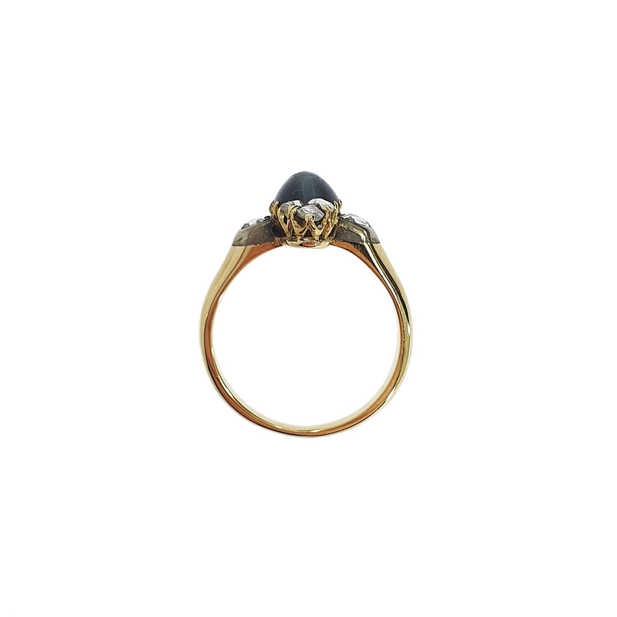 Antique Chrysoberyl & Diamond Ring