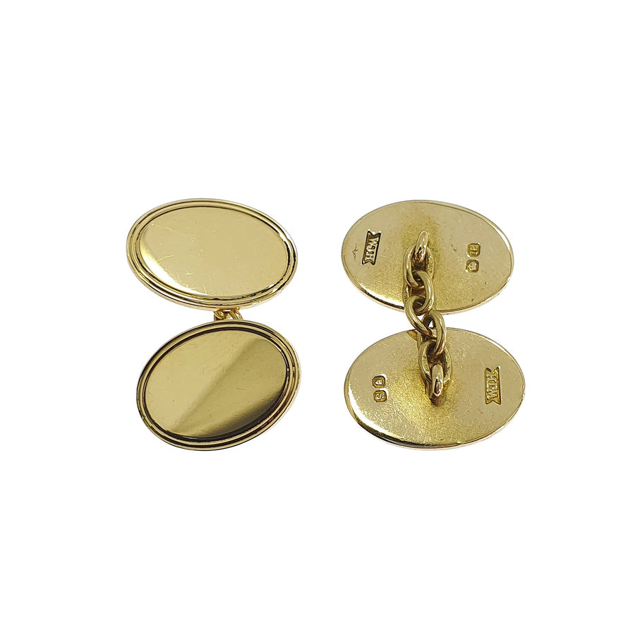 18ct Gold Oval Cufflinks