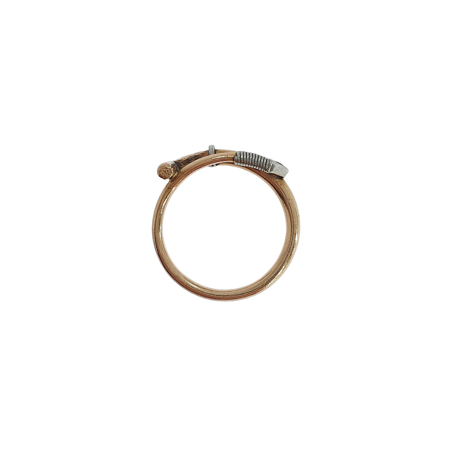 Gold Riding Crop Ring