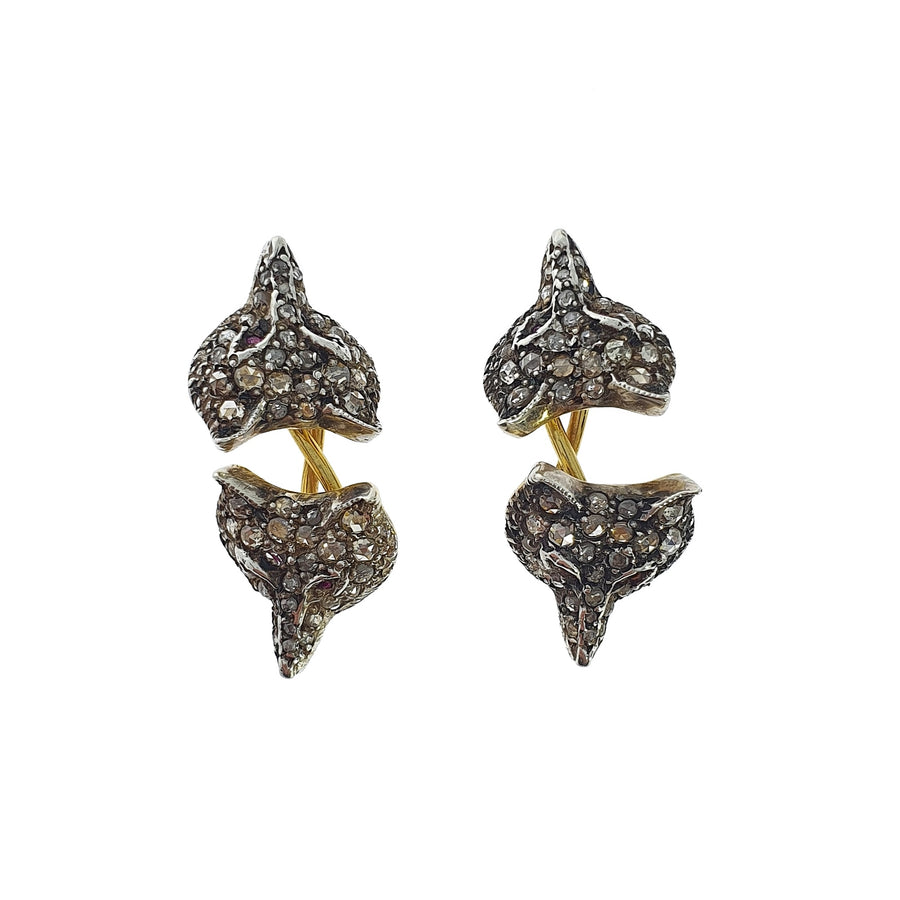 Antique Diamond Fox Head Cufflinks