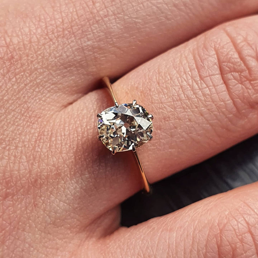 1.35ct Old Mine Cut Diamond Ring