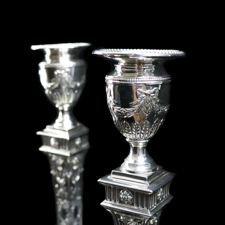 Pair of Edwardian Candlesticks