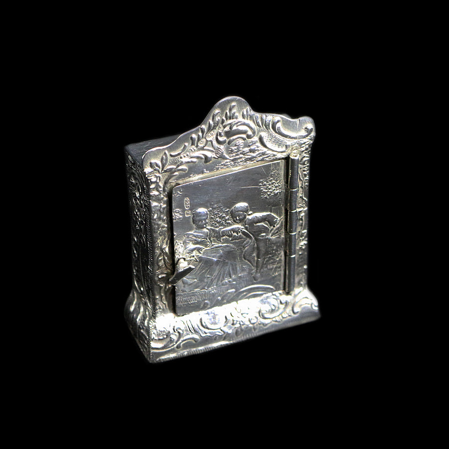 Antique Silver Miniature Cabinet