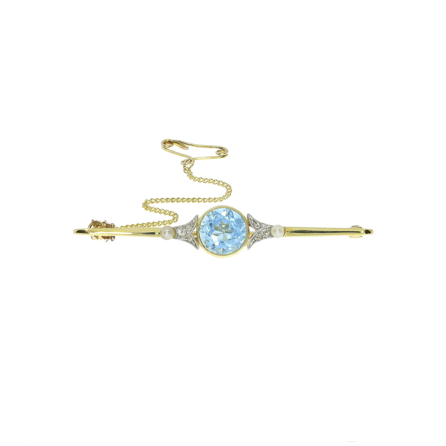 Antique Aquamarine Brooch