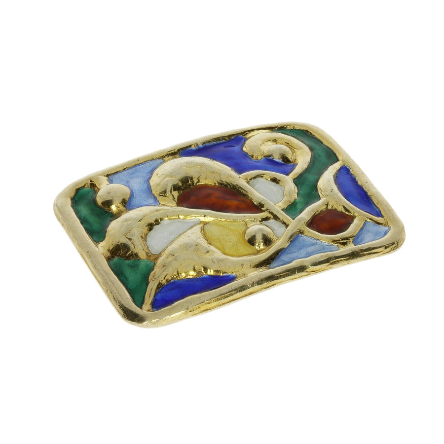 Norwegian Enamel Brooch