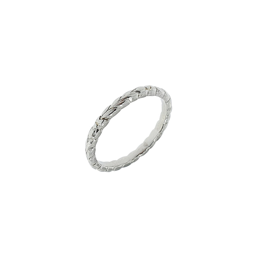Vintage Patterned Platinum Band