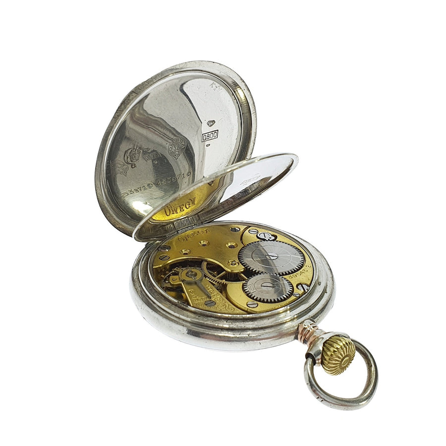 Omega Silver Pocket Watch