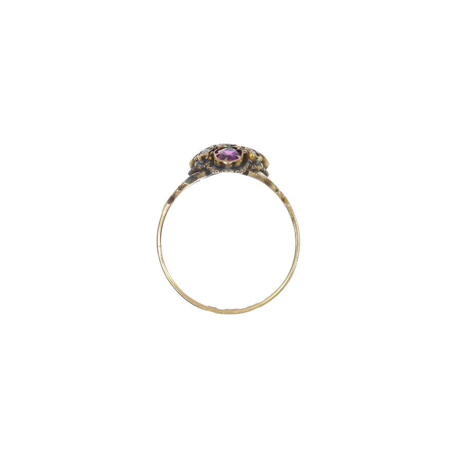 Victorian 12ct Gold Garnet Ring